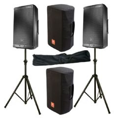 2x JBL EON612 2000W Powered 12